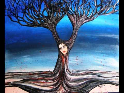 Gli alberi magici dipinti di maristella angeli youtube for Dipinti moderni bianco e nero