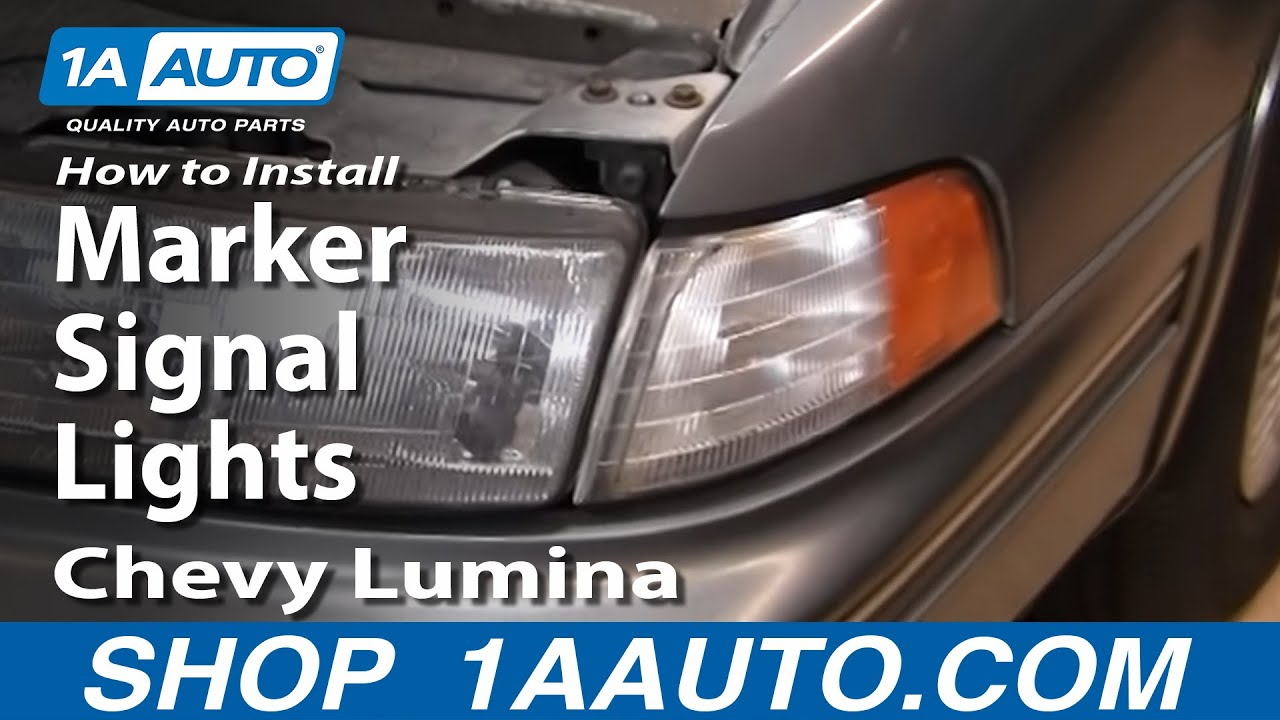 how to replace marker signal lights 90 94 chevy lumina [ 1280 x 720 Pixel ]