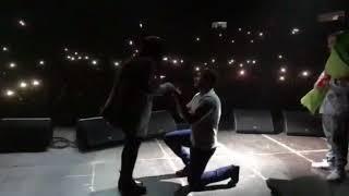 Предложение руки и сердца на концерте Басты