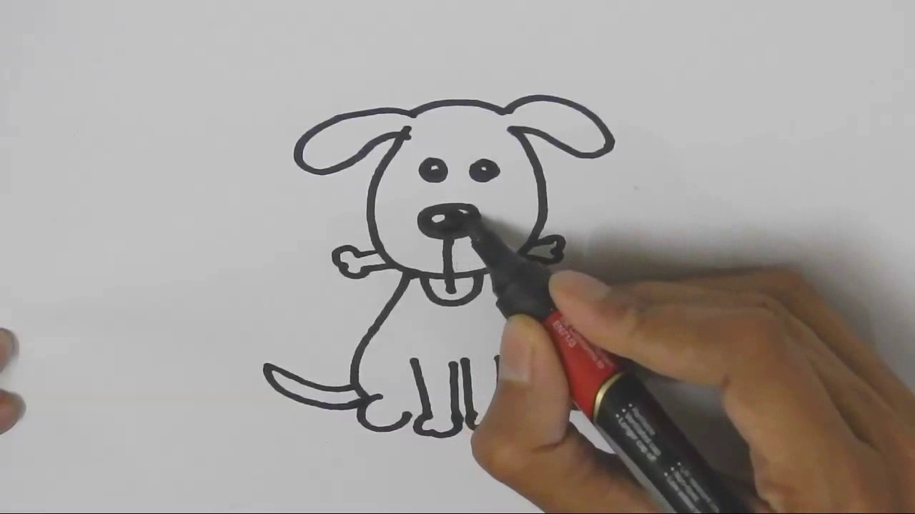 Copy Of How To Draw Cute Dog Step By Step For Children Kids
