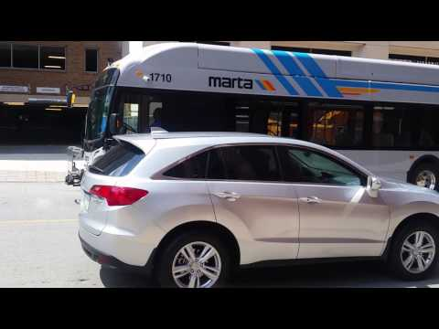 MARTA NEW ARTICULATED BUSES New Flyer Xcelsior XN60 at Midtown Station!!!!!