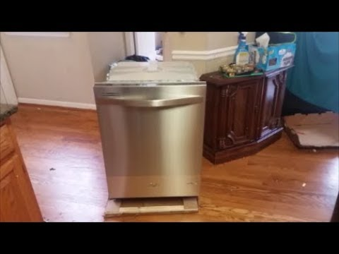 Remove And Install A New Dishwasher Under Granite Step