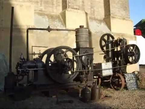 national gas engine   belt driven water pump youtube