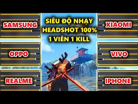Siêu Độ Nhạy Kéo Tâm Headshot 100% Cho Oppo, Samsung, Xiaomi, Realme, Vivo, Iphone