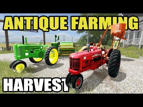 FARMING SIMULATOR 2017 | ANTIQUE HARVEST + PICKING CORN W/ MODEL A & FARMALL 300