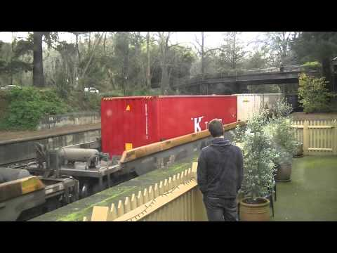 Melbourne to Perth Freight Mt Lofty - Australian Trains, South Australia