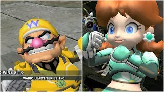 Mario Strikers Charged - Wario vs Daisy - Wii Gameplay (4K60fps)