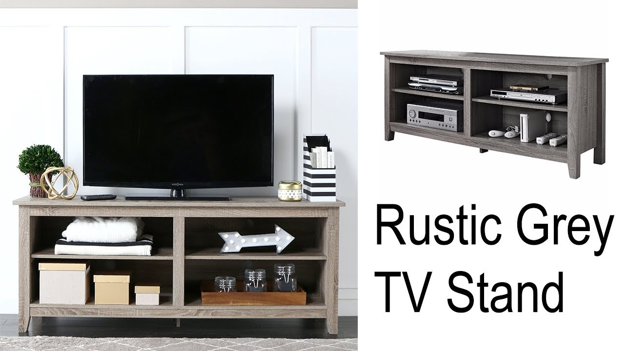 Rustic Tv Stand Drift Wood Entertainment Center Media