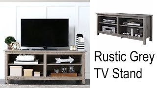 Rustic TV Stand Drift Wood Entertainment Center Media Storage Console Table New