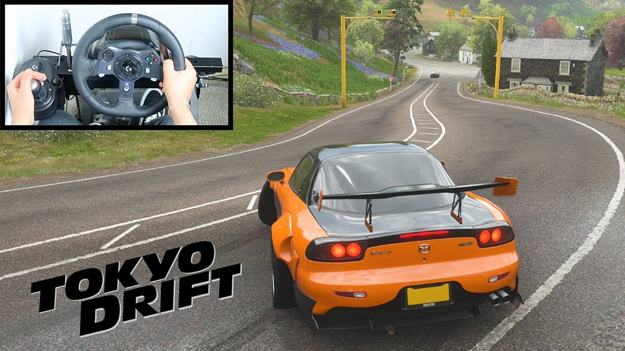 Forza Horizon 4 Han's Mazda RX-7 (Steering Wheel + Shifter) Tokyo Drift Gameplay