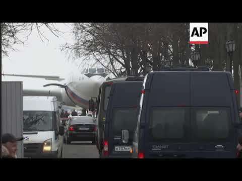 Plane carrying expelled Russian diplomats lands in Moscow