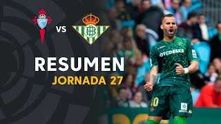 Resumen de RC Celta vs Real Betis (0-1)