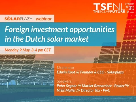 Webinar: Foreign Investment Opportunities in the Dutch PV Ma