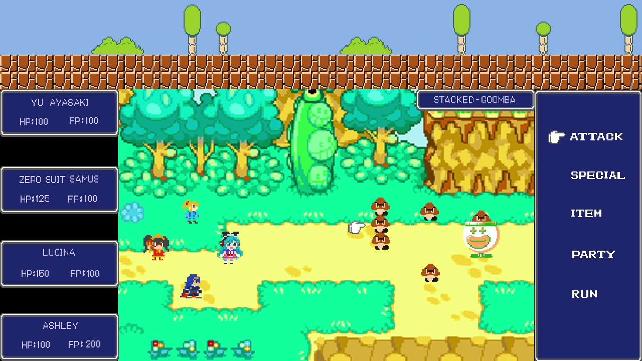 Super Mario Rpg Maker Fan Made Sprite Piece Youtube
