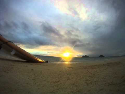 Hawaiian Sunrise with Hawaiian Music, Lanikai Beach