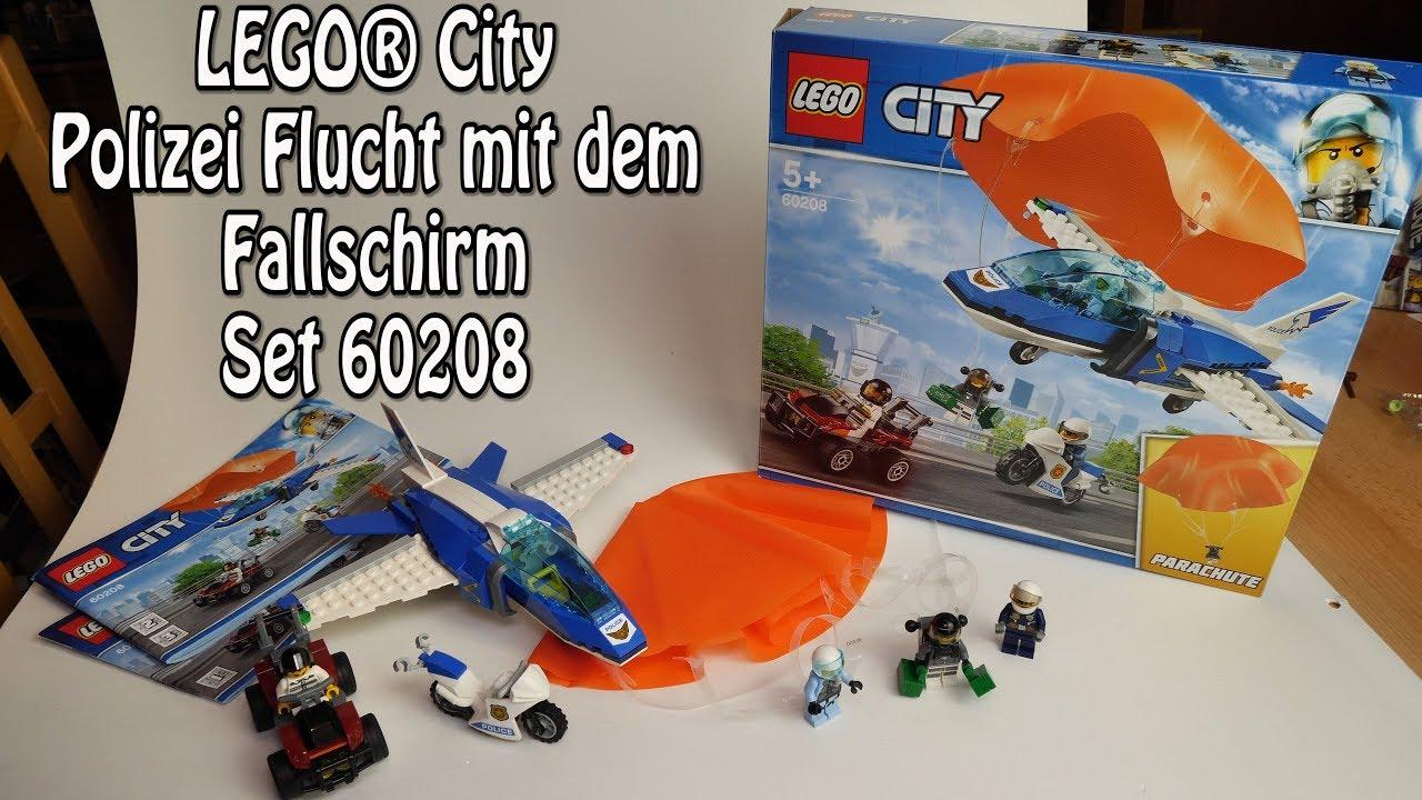 Lego Polizei Flucht Mit Dem Fallschirm City Set 60208 Review
