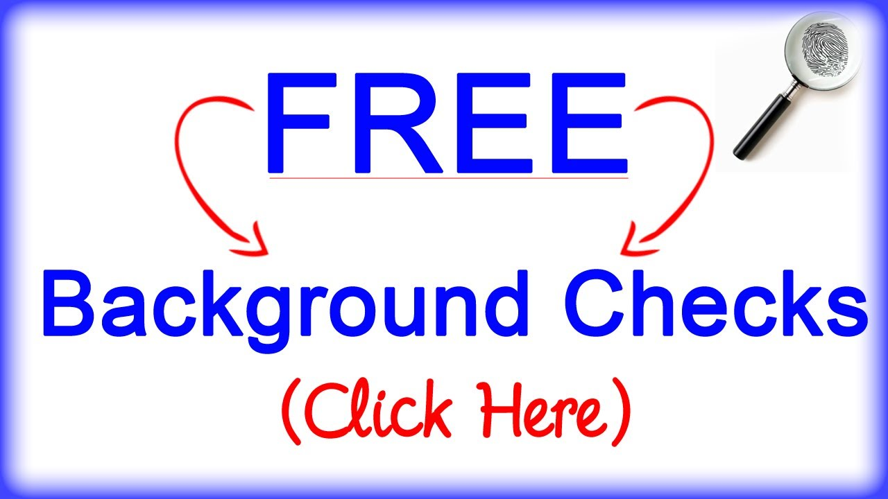 Background Check Free Criminal Record >> Free Background Checks Criminal Birth Death Divorce Etc Youtube
