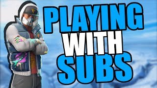 🔴 PLAYING WITH SUBS - SEASON 7 GAME PLAY (Fortnite Battle Royale)