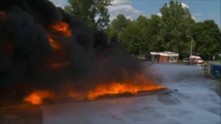 Largest documented fire test using water mist in Europe - EmiControls,  Firefighting  Turbine