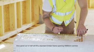 How to measure and cut HYBRIS for a pitched roof
