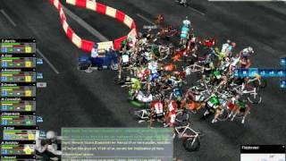 Pro Cycling Manager 2011 - Enormous crash on Champs-Élysées [HD]