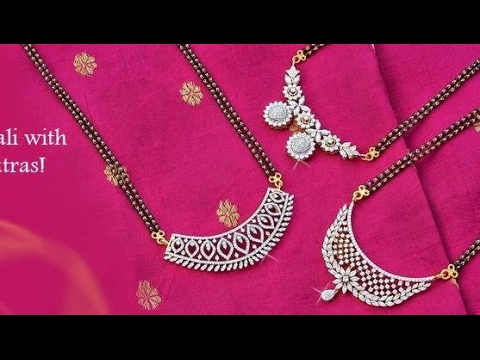 Latest diamond mangalsutra designs with weight youtube latest diamond mangalsutra designs with weight aloadofball Images