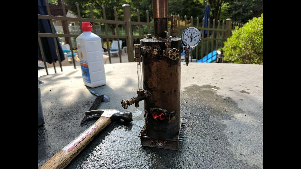 Homemade Coal Fired Steam Boiler - YouTube