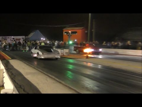"Street Outlaws Derek's ""Silver Unit"" vs Bad Influence n2o truck"