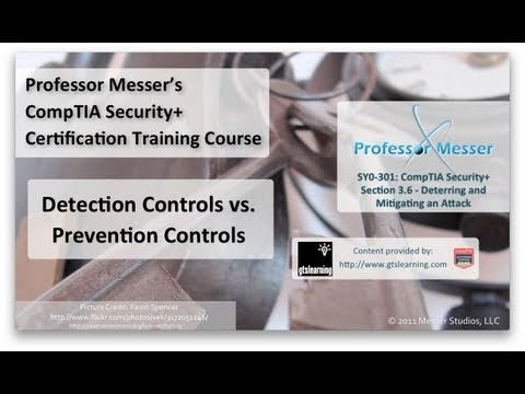 Detection Controls vs. Prevention Controls - CompTIA Security+ SY0-301: 3.6
