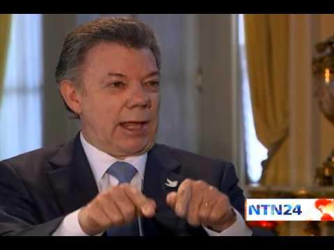 Claudia Gurisatti entrevista al presidente de Colombia Juan Manuel Santos