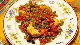 37 - Palombo alla livornese con piselli...e vedi tutti più belli (secondo piatto di pesce facile)