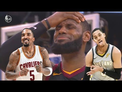 LeBron's toughest opponents yet (JR Smith and Jordan Clarkson Lowlights)