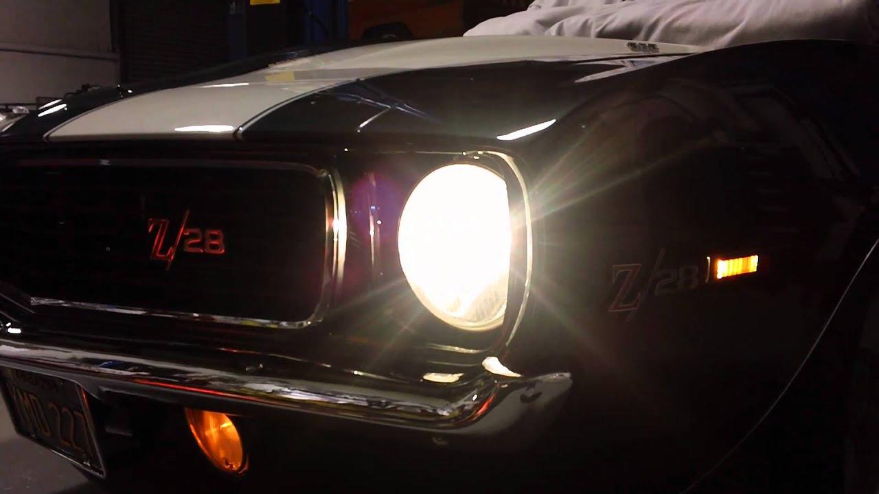 1968 Camaro Z28 >> 1969 Camaro RS/Z28 DZ 302 DSE RS Electric Headlight Door ...