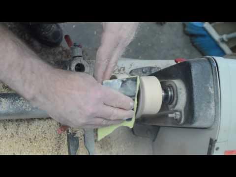 Turning Decorative Mason Jar Lids Ash and Walnut