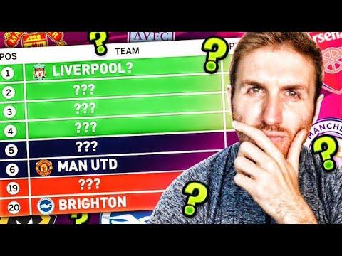 11v11 Premier League Table