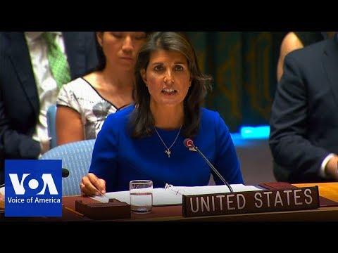 US Ambassador Nikki Haley Speaks at UN Briefing on Myanmar