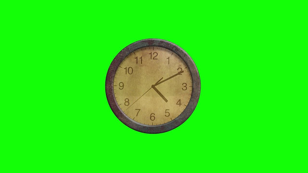Green Screen clock fast reverse Full HD Free Download
