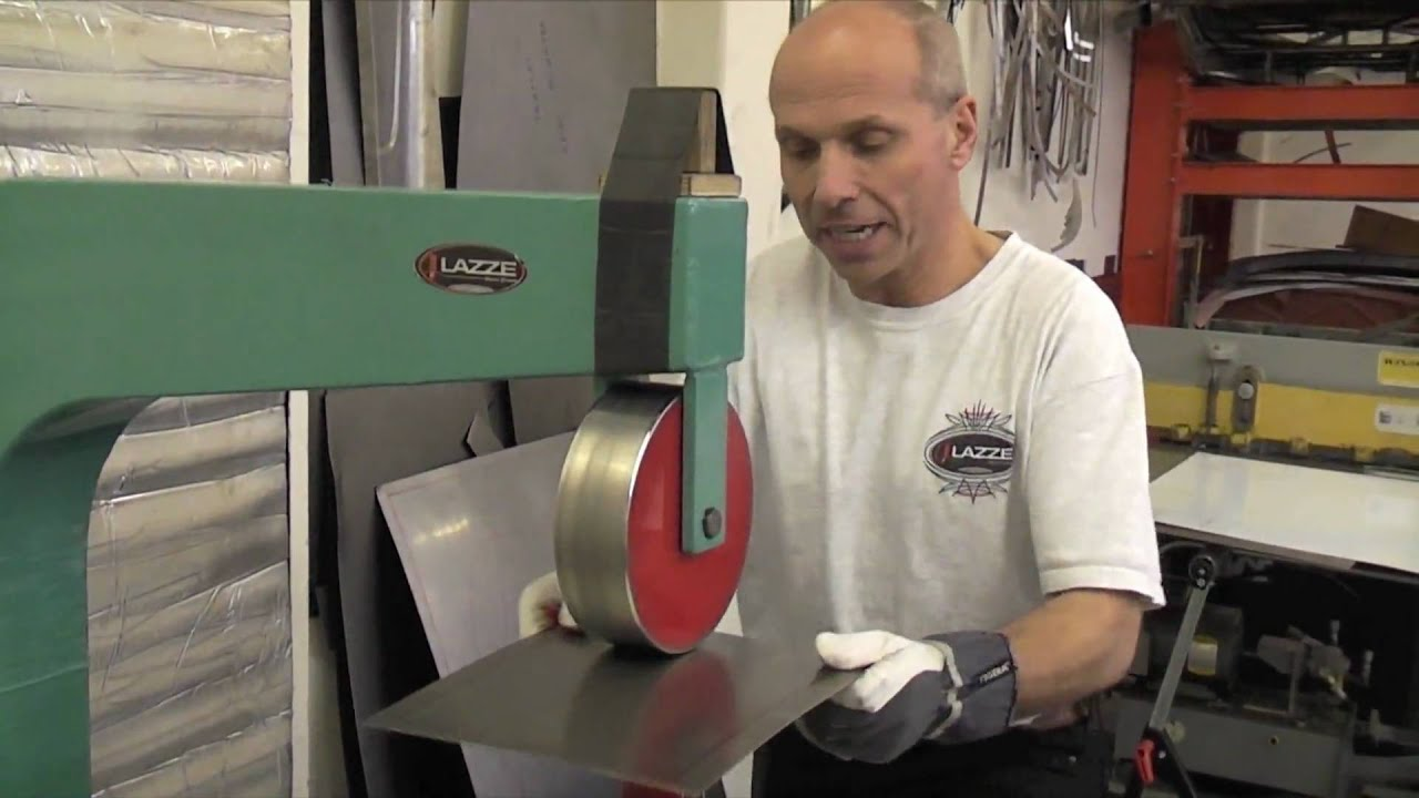 Basic English Wheel Technique Lazze Metal Shaping Youtube