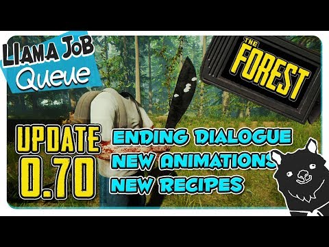 The Forest Update V0.70 New Recipes, New Animations, and Less Small Pebbles