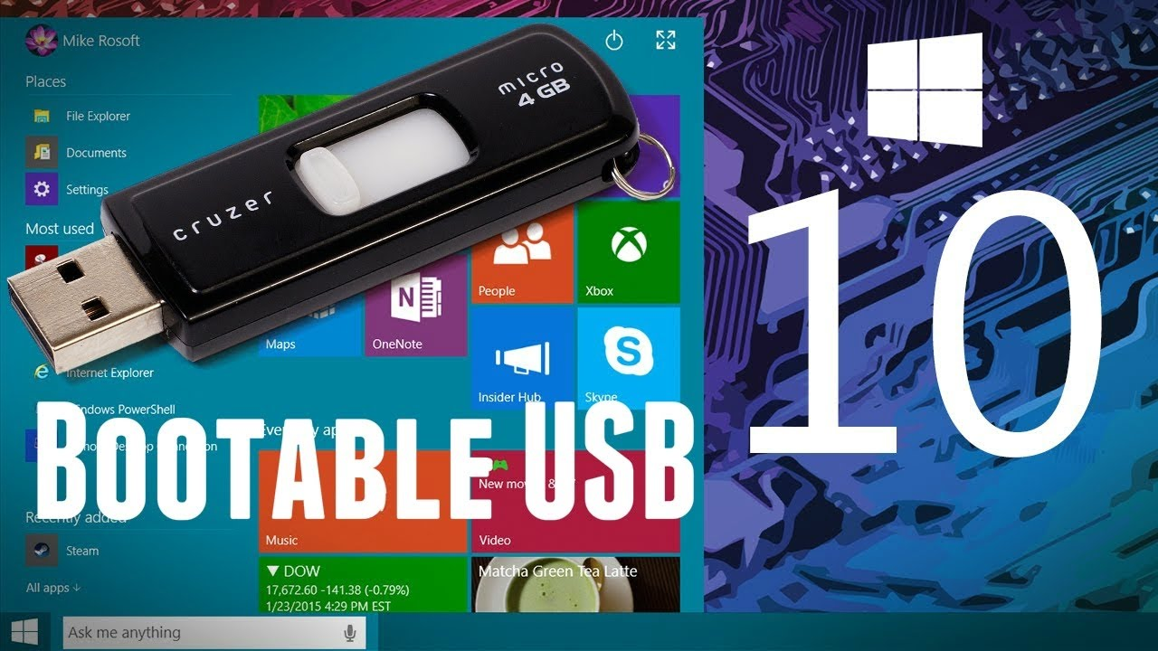 Power iso how to create windows 10 bootable usb flash for Window boot usb