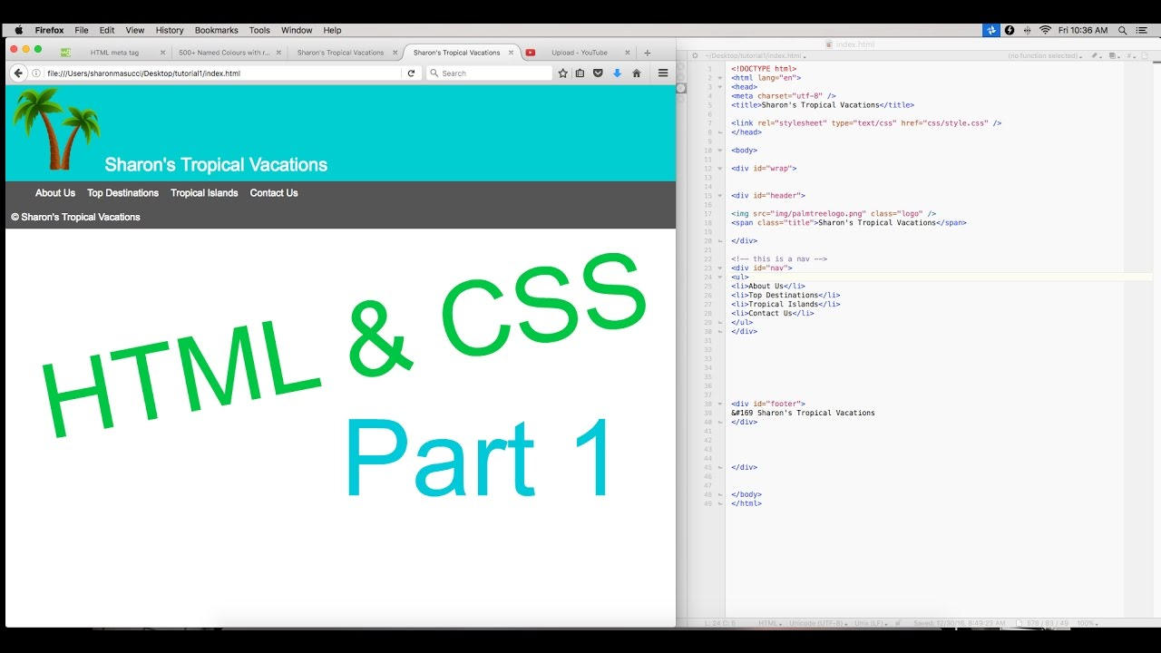 Html tutorial html basic structure.