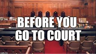 Gambar cover Rules before going to court