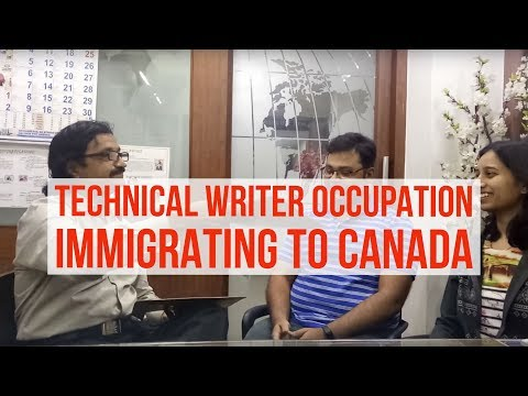 Moving to Canada as a Technical Writer Occupation with Manoj Palwe.