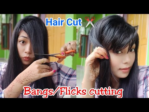 How to trim your front hair/ bangs / fringes|| How to cut your own hair|| how to style bangs