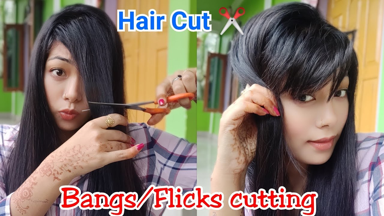 How to trim your front hair/ bangs / fringes How to cut your own hair  how to style bangs