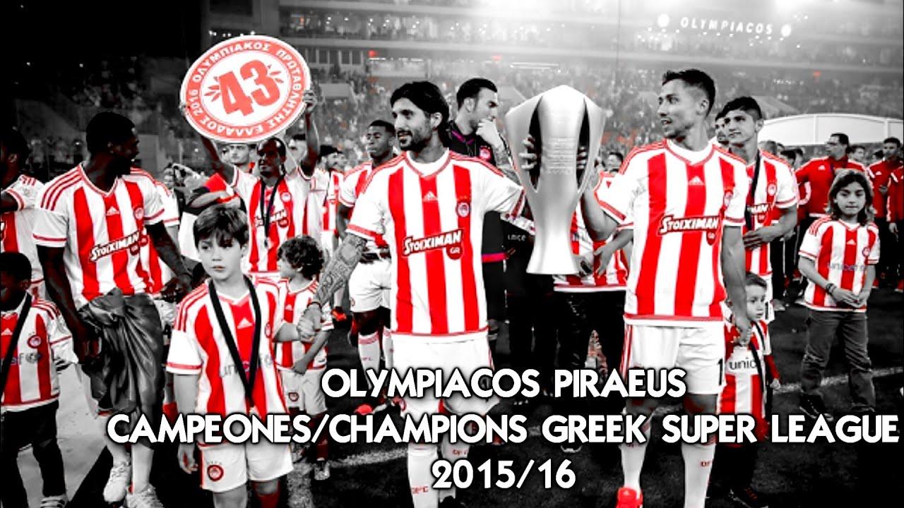 #OlympiacosPiraeus Greek Super League Champions 2015/16 ...