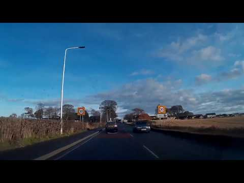 St Andrew's Day Drive Through Cupar To St Andrews Fife Scotland