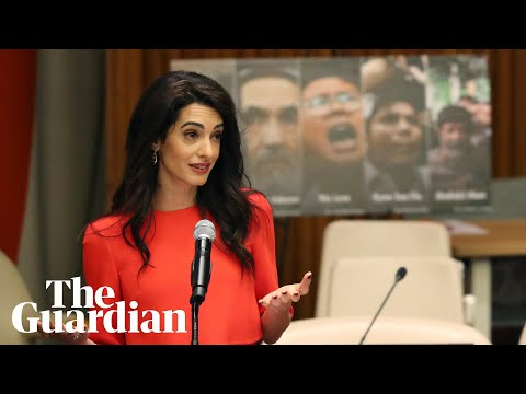 Aung San Suu Kyi holds 'key' to freeing Reuters journalists, says Amal Clooney