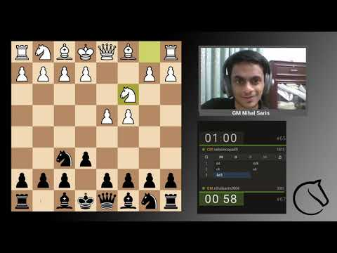 GM Nihal Sarin plays Lichess Bullet Titled Arena
