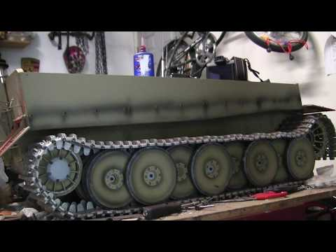 Vintage RC 1/6th scale armortek early production Tiger I Video#9 (upper hull details) part 2 or 2